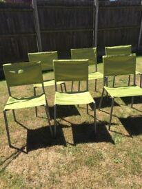 Ikea chairs x 6 indoor or outdoor use