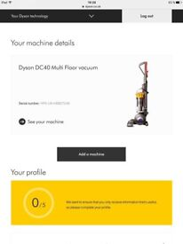 Dyson DC40 Multi floor Vacuum. Excellent condition. Less than a year of use.