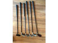 Junior Set of Golf Clubs including Standing Golf Bag - 5,6,7,9 irons + Putter + 5 Wood
