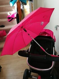 Mothercare pink journey travel system