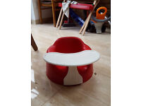 Red Bumbo Chair With Playtray