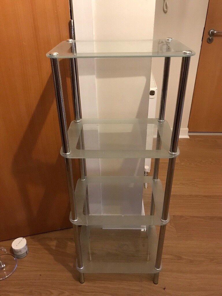 john lewis set of glass bathroom shelves sold  in