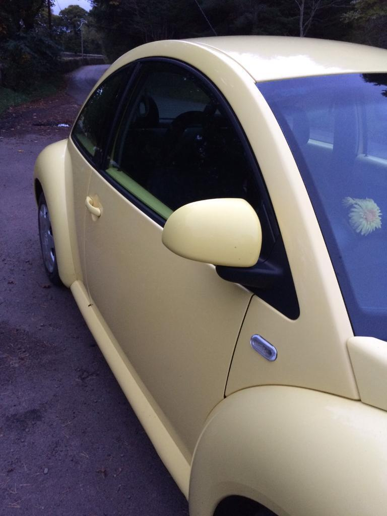Yellow VW Beetle 2001 FSH 90K Great Condition owner last 4 years ***REDUCED**** £500