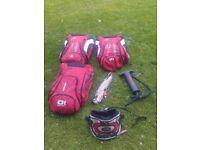 Bargain kitesurf setup! 3x Air Rush kites with harness and bar & lines