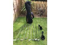 Golf club set and trolley
