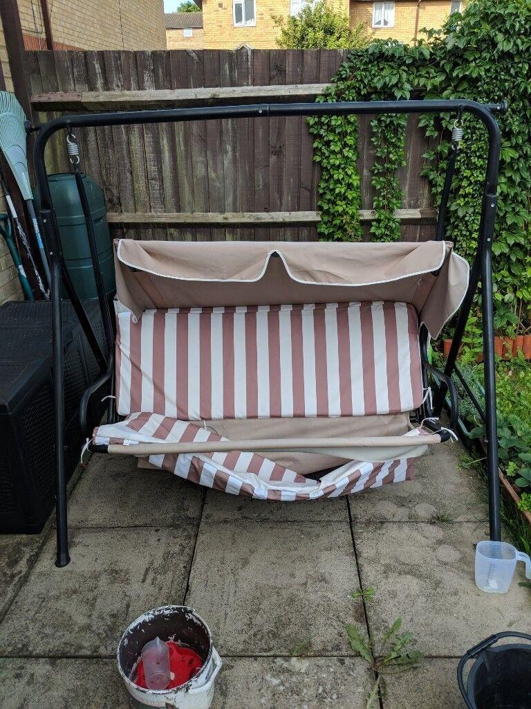 3 Seater Garden Hammock Swing Seat Outdoor Bench