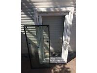 Window frame and double glazed unit