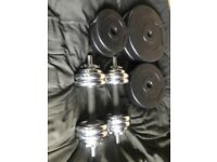 dumbbell set and weights