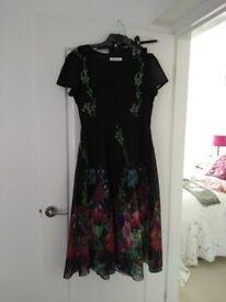 Ladies new black summer dress with pattern