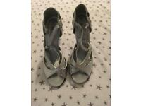 Silver shoes size 6