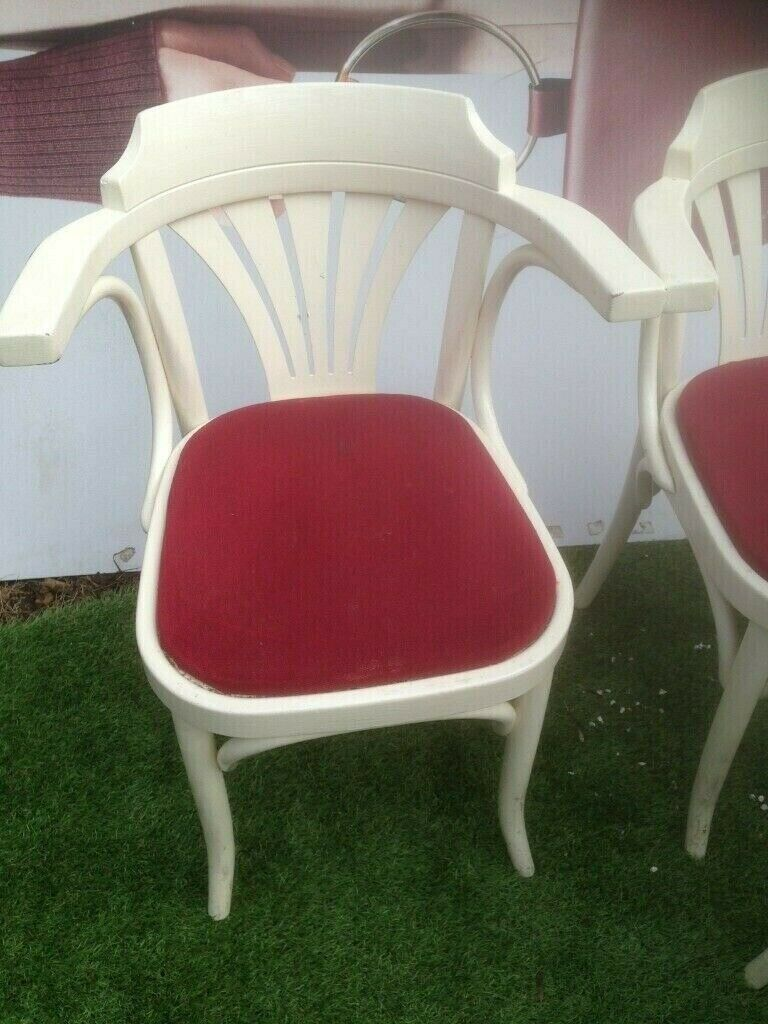 Classic Retro Pub Chairs White Round Back In Norbury London Gumtree