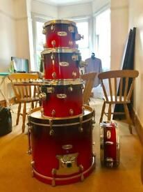 Mapex Pro M series 5 Piece Shell pack - Cherry Fade Finish