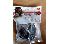 3m Spray Paint Respirator - A2P2 with Anti fog Goggles and spare filters