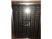 ISLAMIC GLASS FRAME W/ ALLAH 99 NAMES PERFECT CONDITION