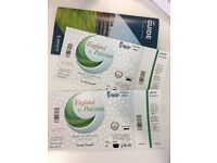 2x tickets England v Pakistan 2nd ODI Cricket match @ Lord's 27th Aug - Grand Stand