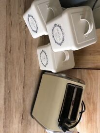 Toaster and canisters