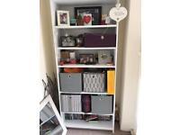 Wide/deep bookcase from argos, white