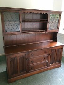 Beautiful Large Solid Oak Dresser Sideboard by Lock of London, Excellent Condition