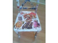 Delightful, upcycled, decoupaged dining chair