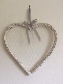 Large Vintage Heart Photo Holder.