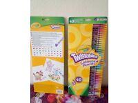 Twistable coloured pencils (crayola)