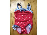 3 x Swimming costumes for baby girl size 3-6 months
