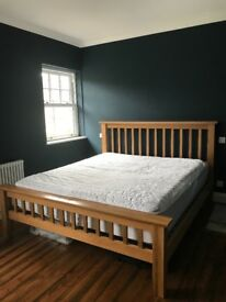Solid Wood Super King Bed including mattress
