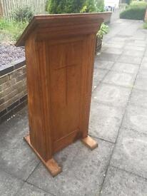 Vintage Solid Oak church lectern