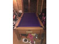 6x3 Solid Slate Bed Monarch Pool Table DPT SNOOKER LIVERPOOL with ques and balls Delivery