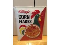 New Kellogg's Corn Flakes Large Metal Sign 40cm x 30cm