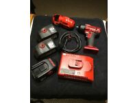 Snap on 18v cteu4418 3/8 impact wrench plus x3 battery's