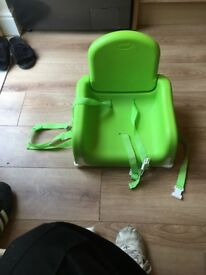 Baby and toddler seat to go on chair