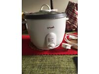 Used white rice cooker