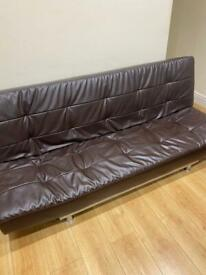 Brown sofa bed very good condition