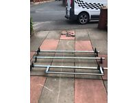 3 bar roof rack with roller for ford transit swb