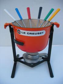 LE CREUSET CAST IRON FONDUE SET