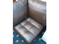 Brown Corner sofa chair