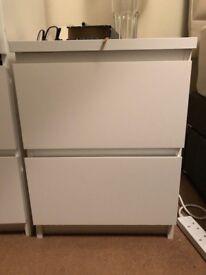 IKEA Malm bedside table - white