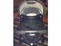 Quinny Buzz pushchair and carrycot.