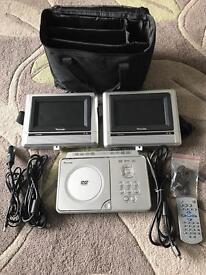 Twin screen incar DVD player