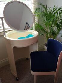 Italian design Kastilia Vanity Dressing Table with Integral Chair.