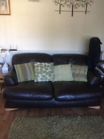 2 seater 3 seater brown leather sofas