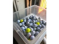 250 used golf balls many different makes