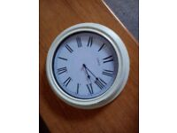 'QUARTZ' wall clock - attractive design and large - any reasonable offer accepted