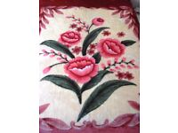 New Super Soft Floral Print Fleece Blanket for 5' (Queen size) double bed