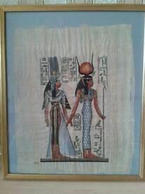 Egyptian artwork papyrus