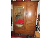Vintage wardrobe, easily seperated into 3 sections for transportation.