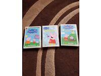 Peppa Pig DVDs x3