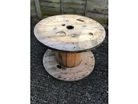 80cm industrial wooden cable drum upcycle table