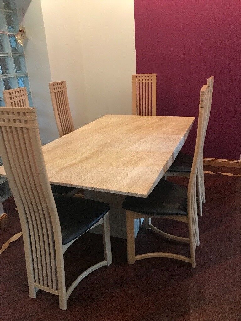 Charles Rennie Mackintosh Style Dining Chairs In